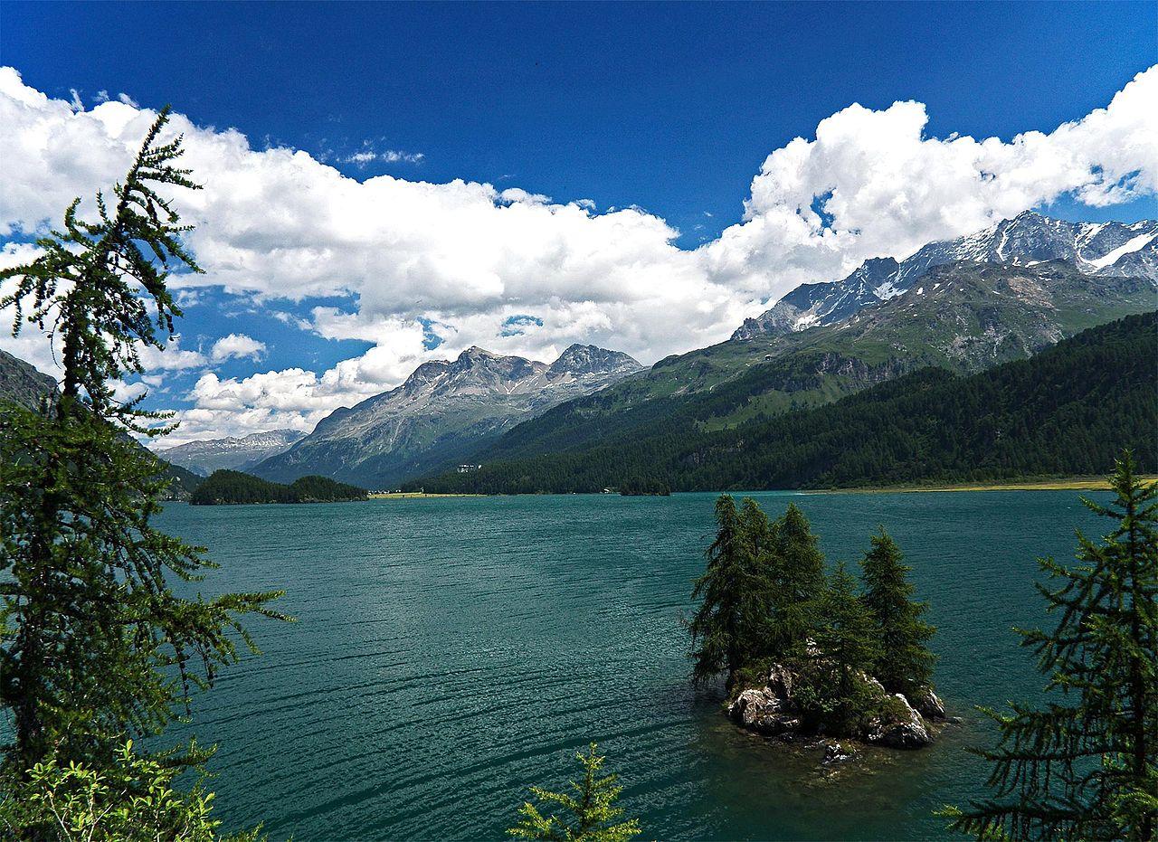 Швейцарские Альпы, высокогорное озеро Зильс