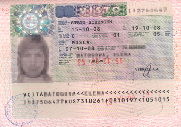 For a visa Naples Moscow