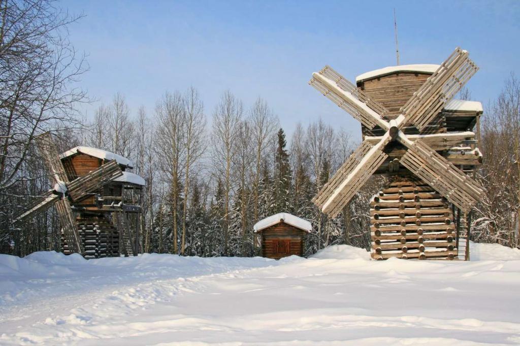 Малые Корелы зимой, Архангельская область