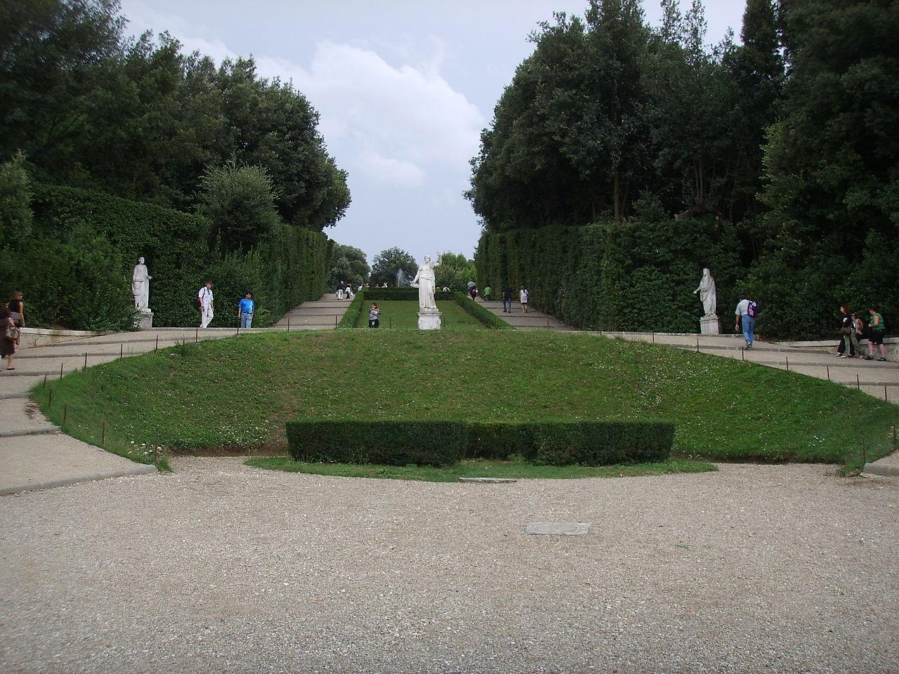 Сады Боболи, аллея и статуи