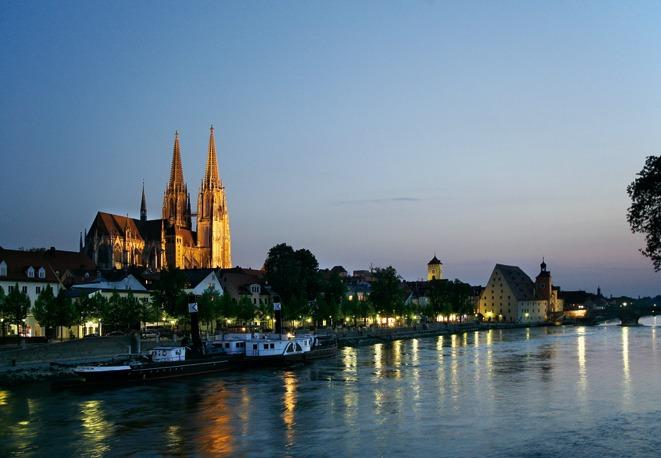 Вечерний Регенсбург, Германия