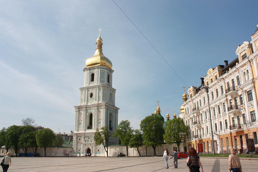 Софийский Собор со стороны площади Богдана Хмельницкого, Киев