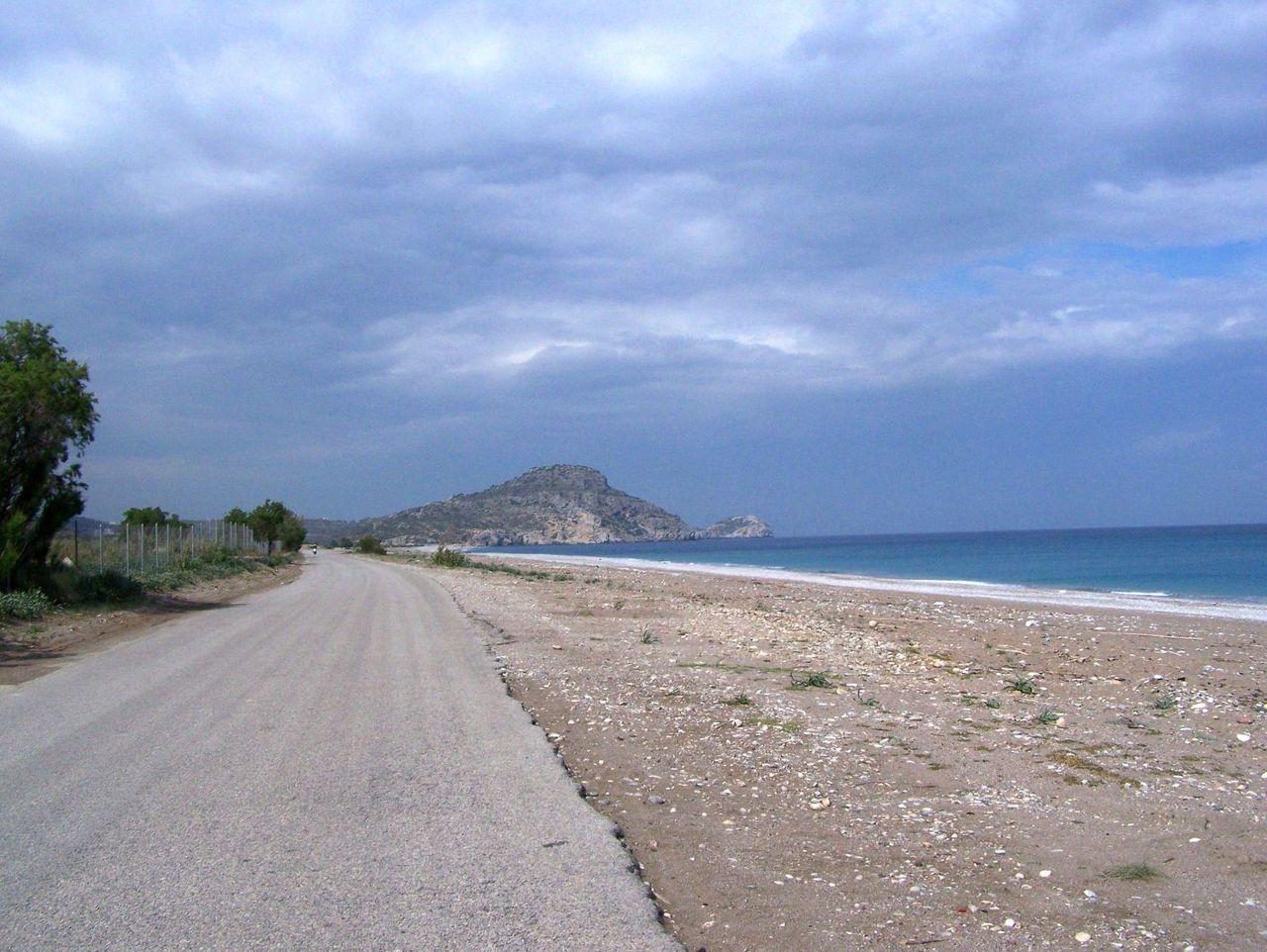 Вид на пляж Афанду, Греция