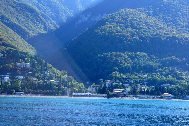абхазия гагры пляж