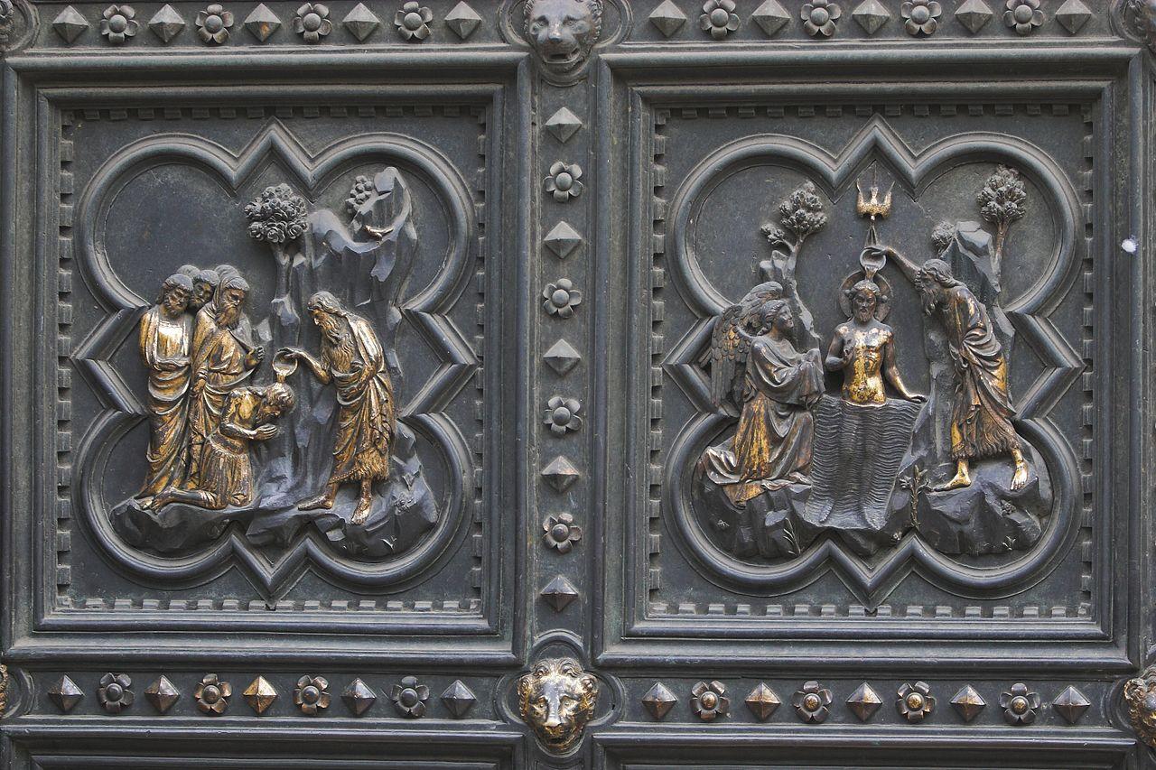 Баптистерий Сан-Джованни, фрагмент южной двери