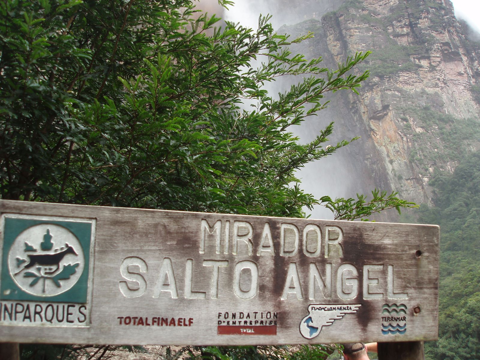 Водопад Анхель, смотровая площадка