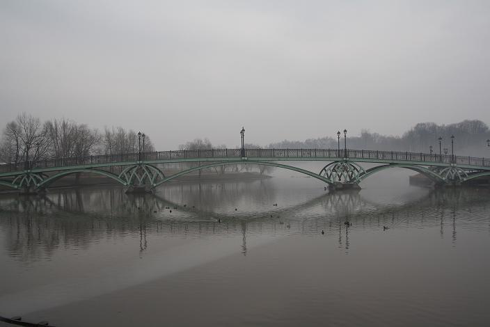 Красивый мост в Царицыно