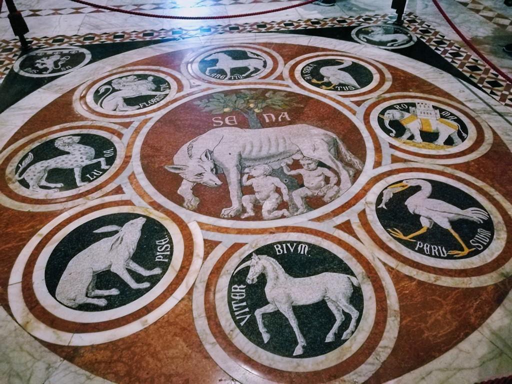 Мозаичный пол Сиенского собора, Италия