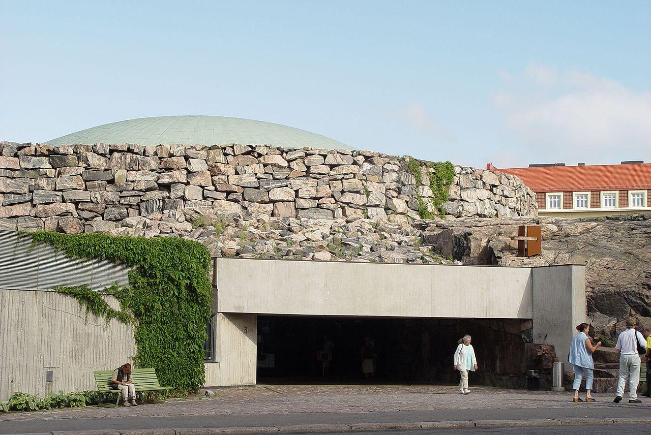 Церковь Темппелиаукио, вход