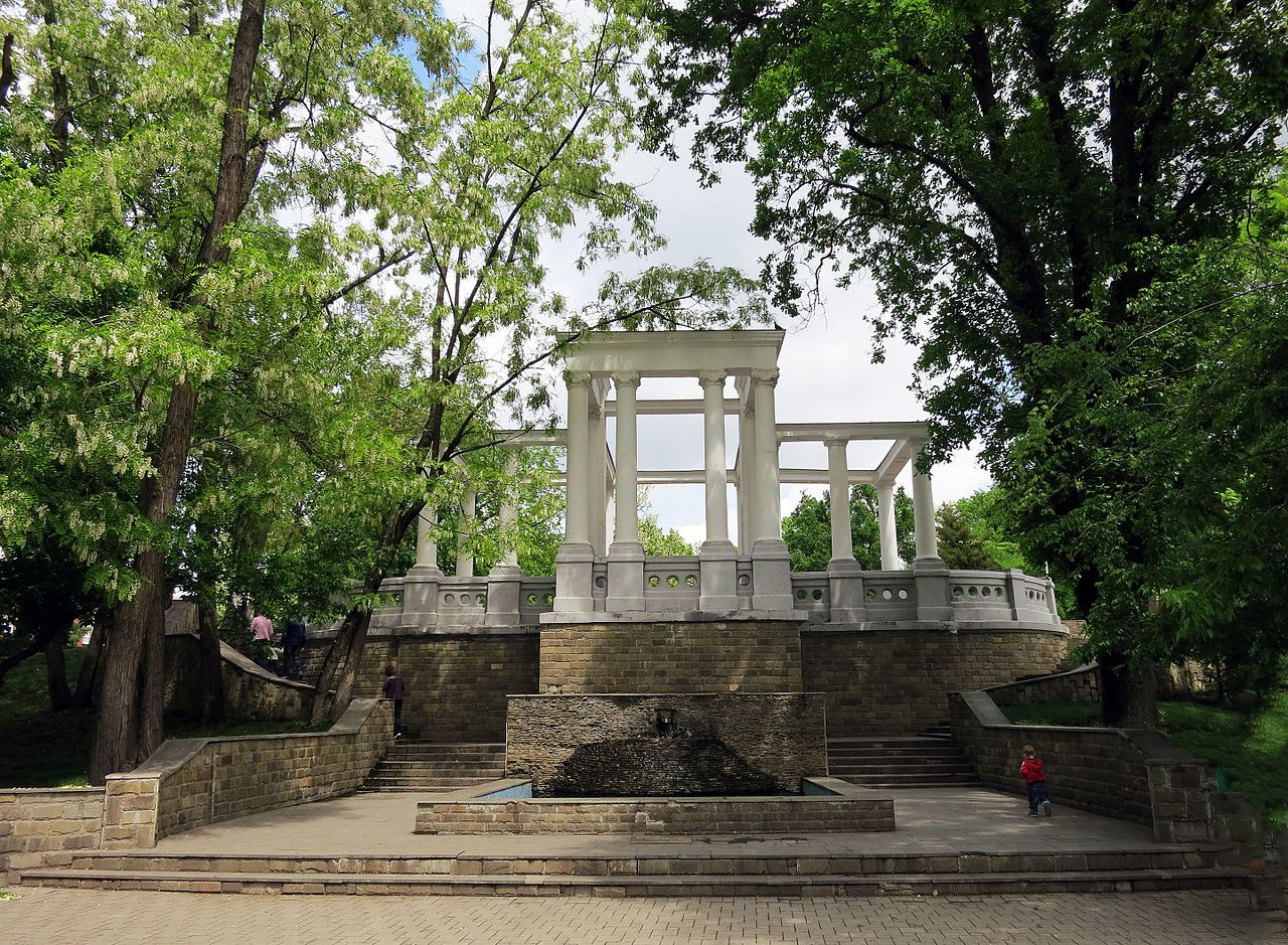 Городской сад в Краснодаре, аркада
