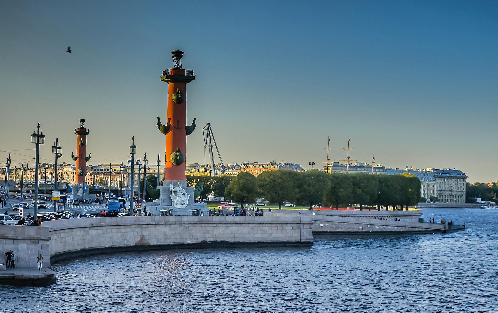Васильевский остров, Ростральные колонны, Санкт-Петербург