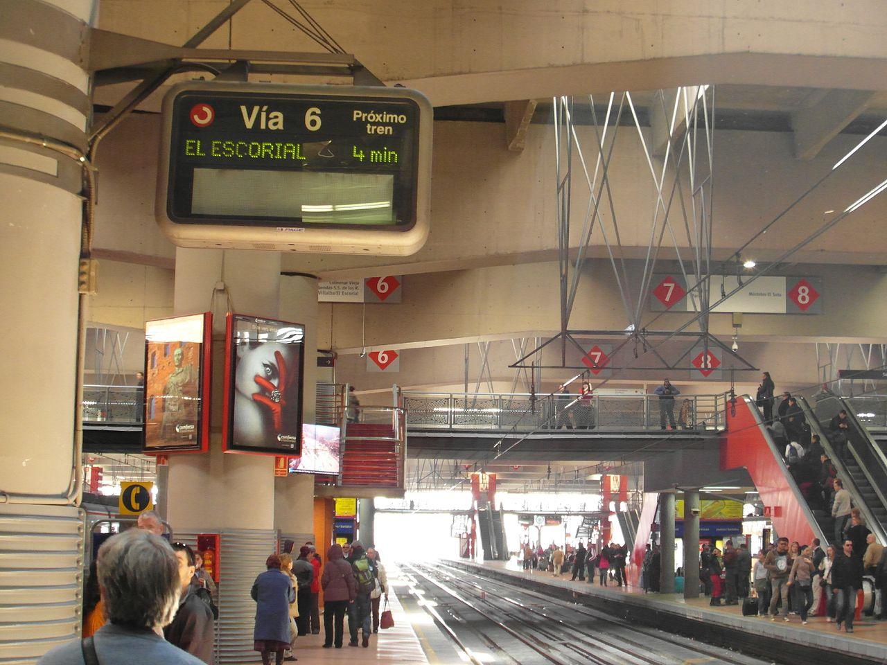 Вокзал Аточа, платформа