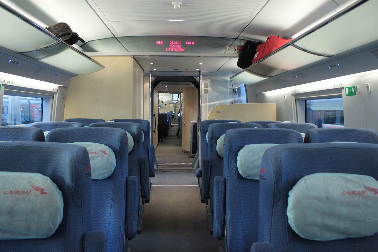 Скоростной поезд «Сапсан», интерьер