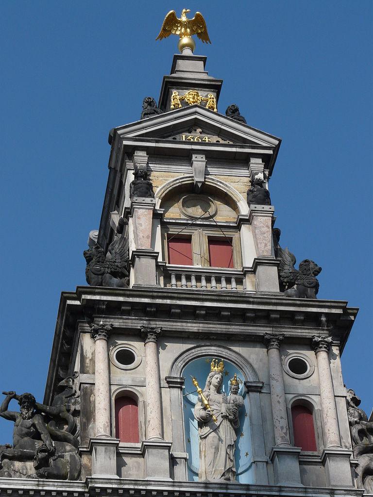 Антверпенская ратуша, деталь фасада