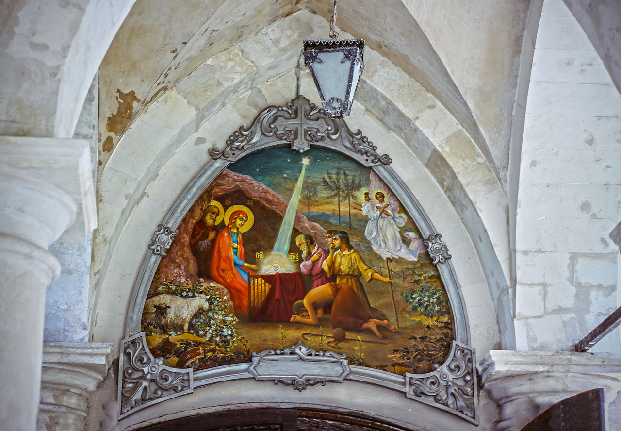 Быково, Владимирская церковь , фреска над входом