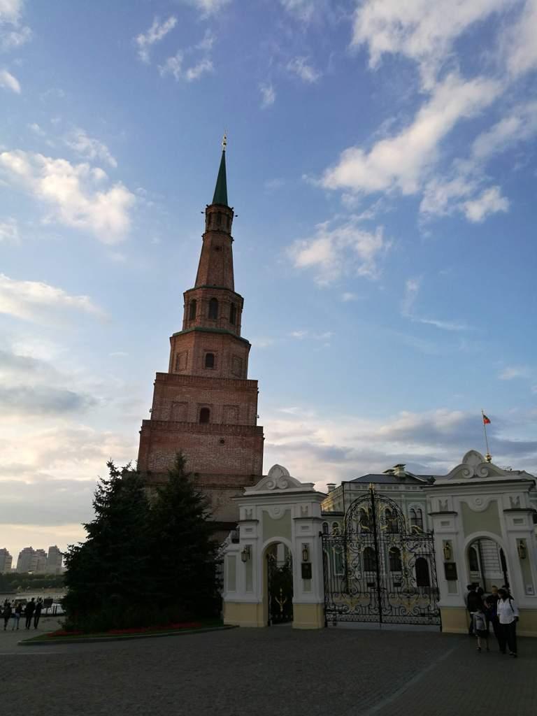 Вид на башню Сююмбике в Казани, Россия