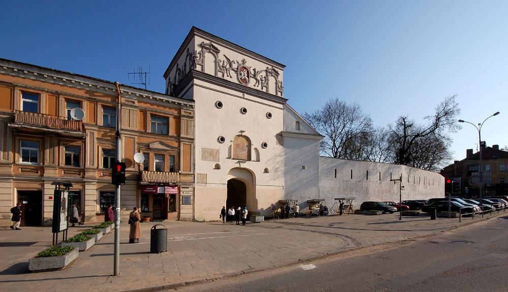 Вид на ворота Аушрос, Вильнюс