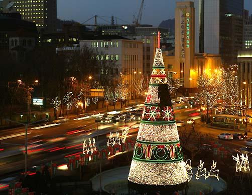 Рождественская елка на улицах Южной Кореи.jpg