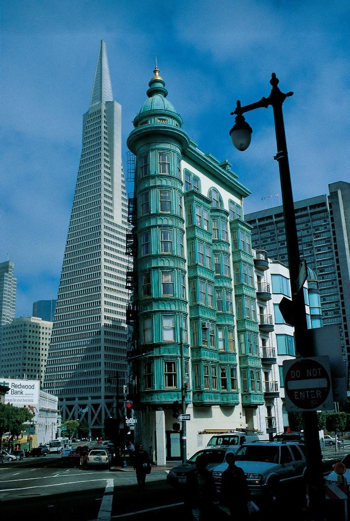 Смешение архитектурных стилей в Сан-Франциско