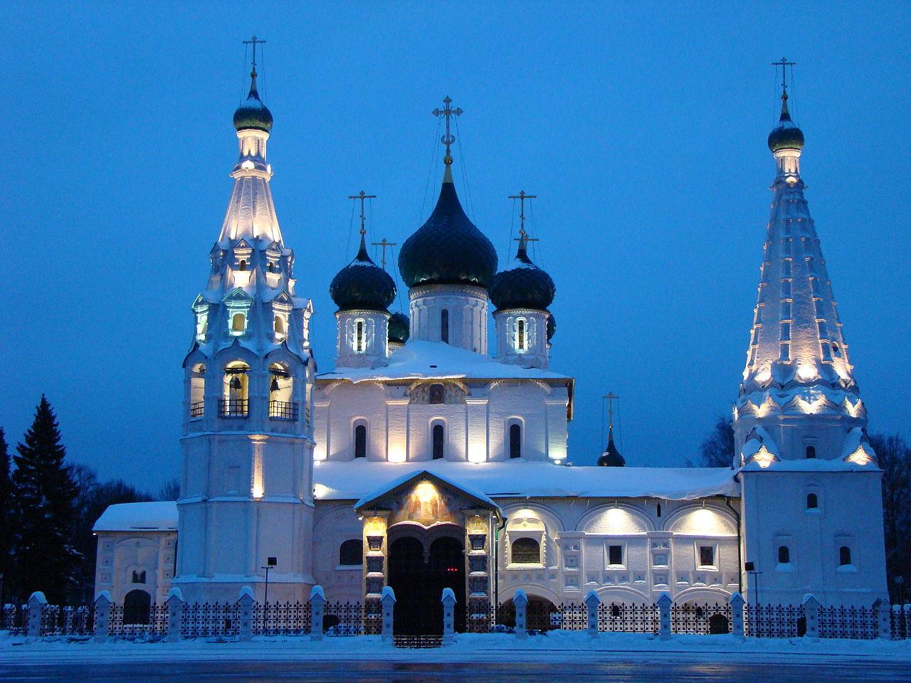 Церковь Ильи Пророка, зимний вечер