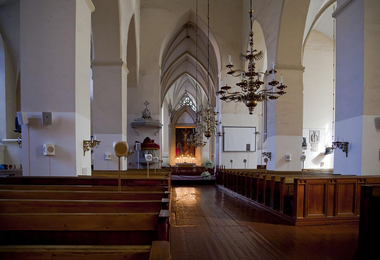 Церковь Олевисте, интерьер