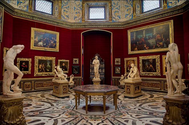 Галерея Уффици, выставочный зал
