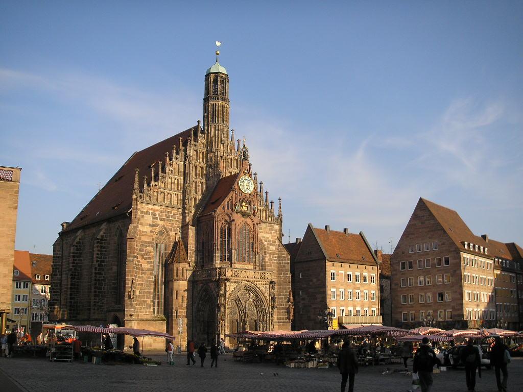 Историческая миля Нюрнберга, церковь Девы Марии