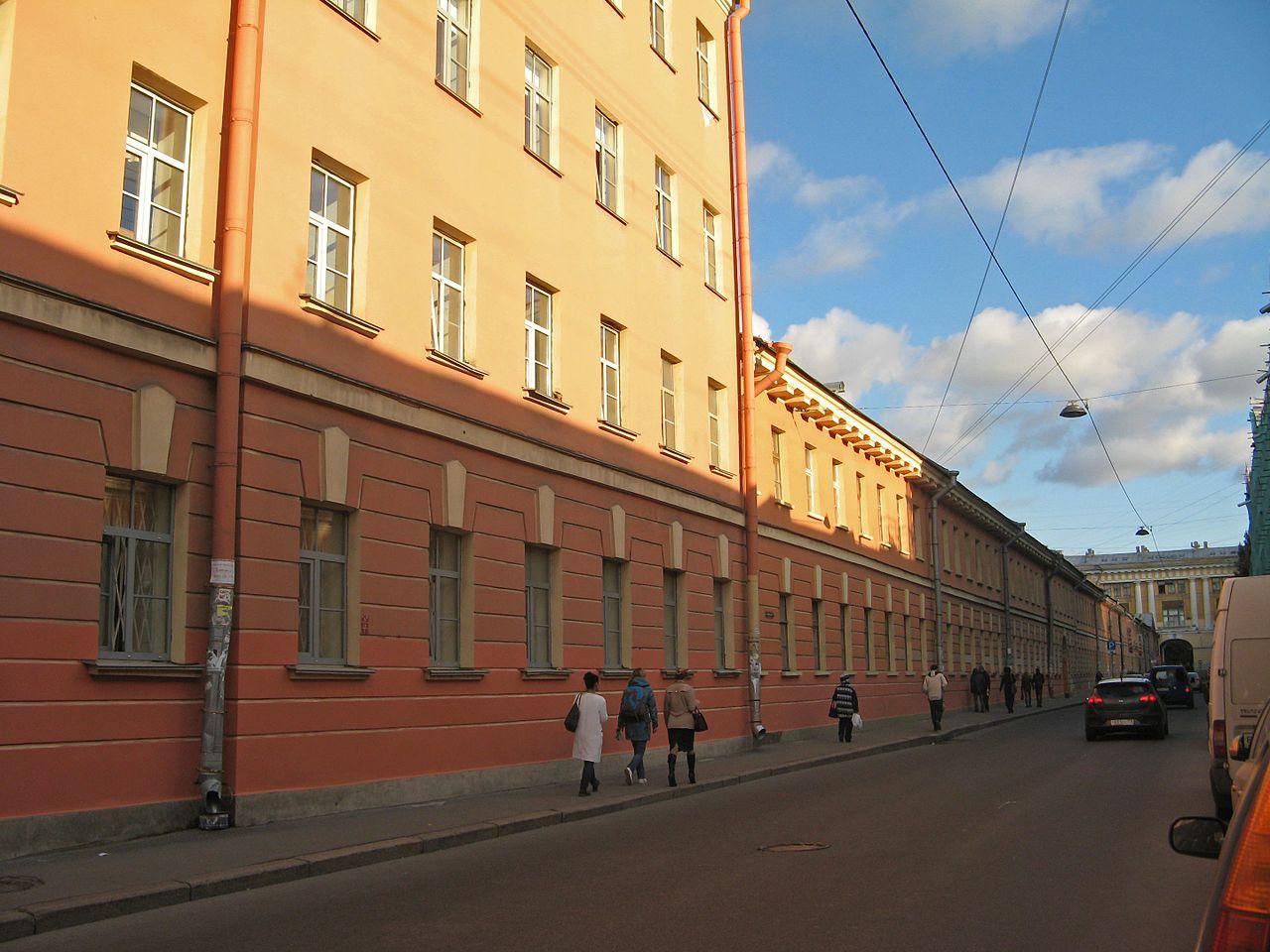 Воронцовский дворец в Санкт-Петербурге, службы по ул. Ломоносова