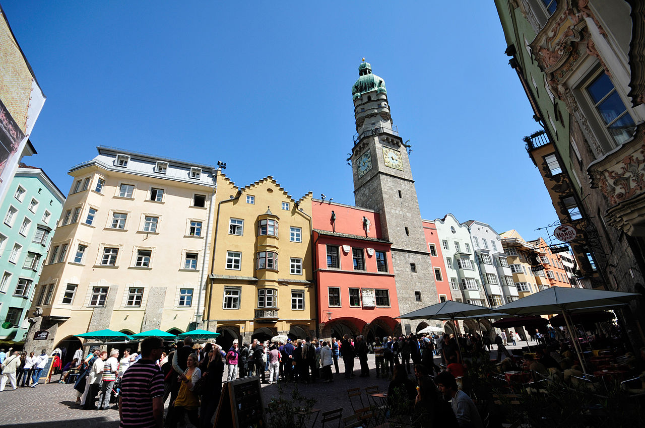 Городская башня Инсбрука, Австрия
