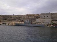 Сторожевой корабль в гавани