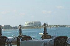 Вид на море с террасы во время питания