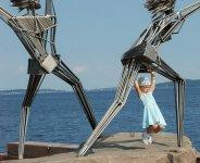 Набережная Онежского озера летом