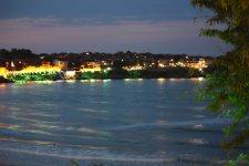 Вид с террасы на вечерний старый город