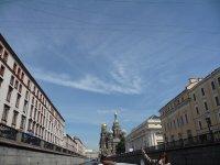 Вид на храм с канала Грибоедова - экскурсия по рекам и каналам
