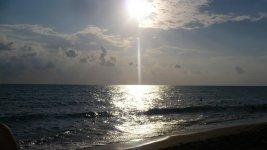 Закат на море..