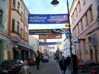 перетяжки на улицах Остравы знакомят с жизнью города
