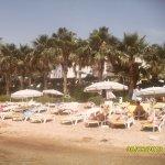 Часть территории пляжа
