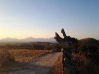 Закат на Косе, вид на подъезде к высокогорной деревушке Зия