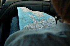 По Дании с картой