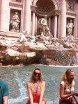 Я и фонтан Треви :)