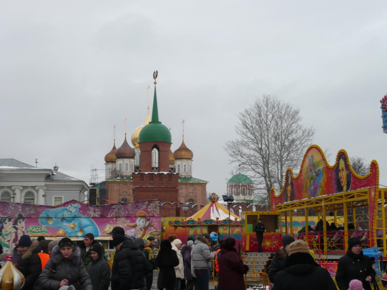 Вид на Тульский Кремль.