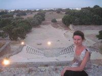Вид на древний стадион