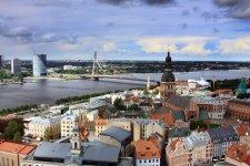 Панорама города со смотровой площадки Домского собора