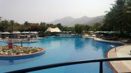Открытый бассейн в Le Meridien Al Aqah Beach Resort,