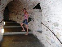 Подъем по винтовым лестницам на смотровую площадку