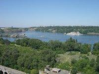 Вид с плотины ДнепроГЭС