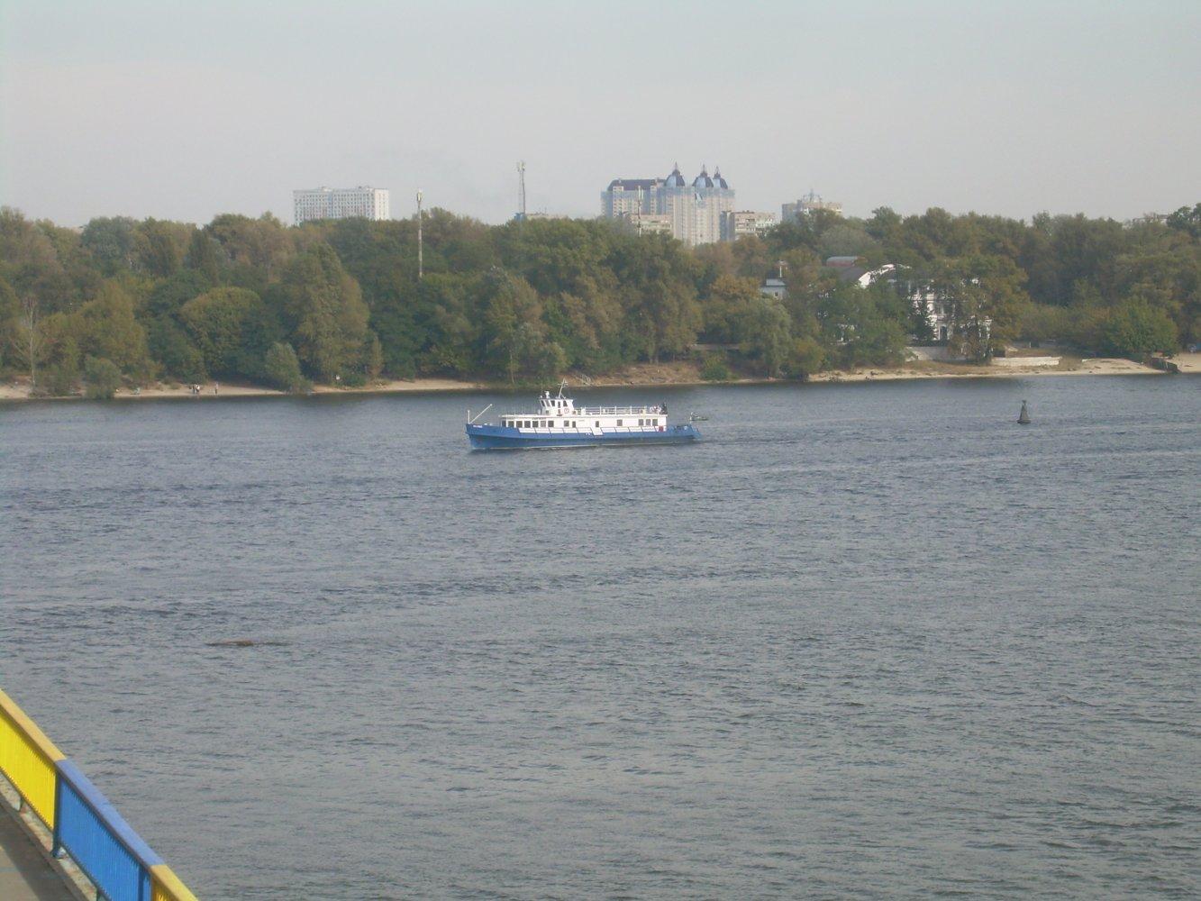 Вид с платформы на реку Днепр