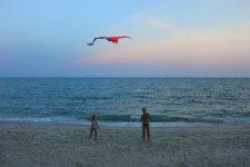 пляж песчаный море спокойное