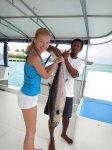поймала тунца