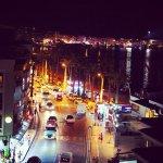 Вид из отеля ночью